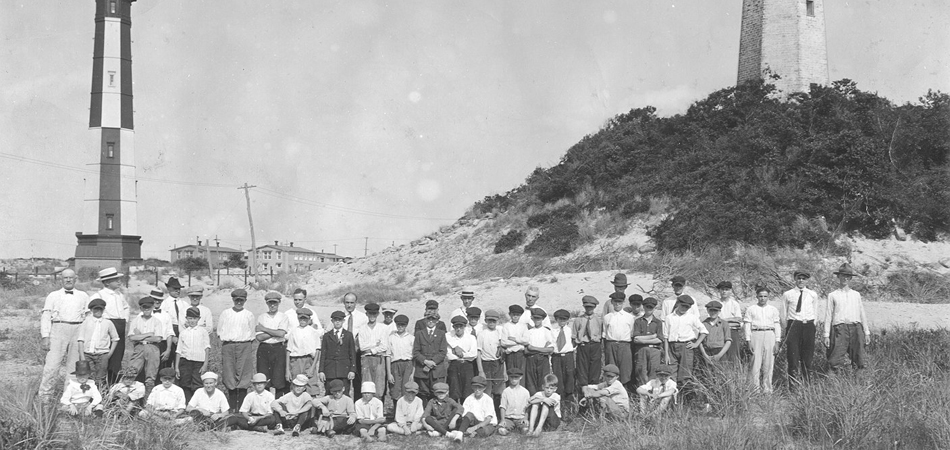 Club boys at Cape Henry, Virginia, 1922.